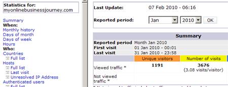 January 2010 stats