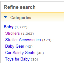 ebay refine search