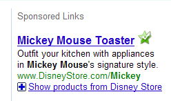 mickey mouse ad