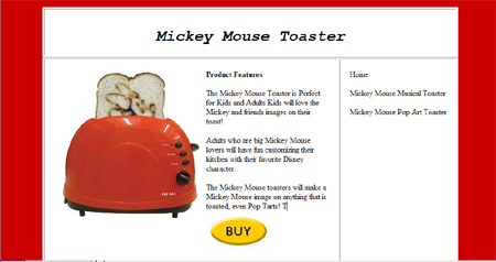 great mickey mouse landing page
