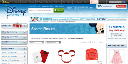 mickey mouse landing page
