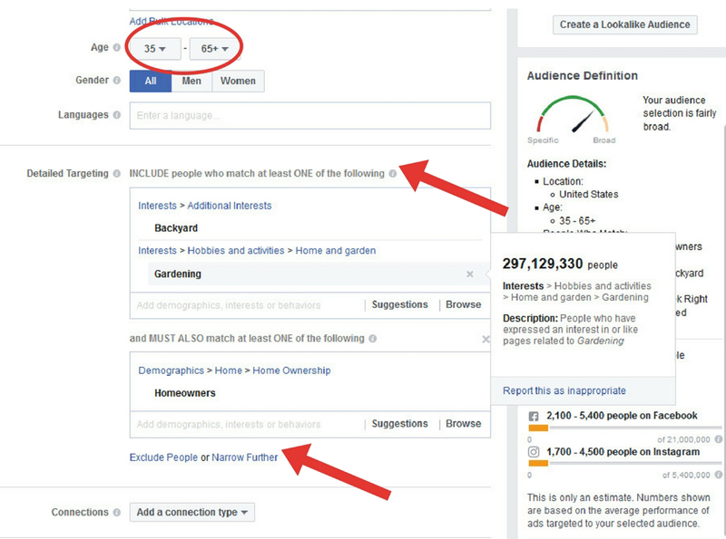 how to create audience for FB ads